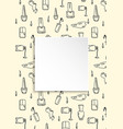 nail banner with doodle manicure pattern hand vector image