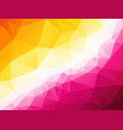 pretty pink yellow triangular background vector image vector image