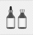 realistic jar with a pipette metering and an vector image vector image