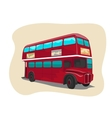 Red traditional double decker London bus vector image