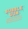 retro bubble gum bold font design alphabet