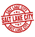 salt lake city red round grunge stamp vector image vector image