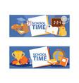 school items banner vetor learning vector image