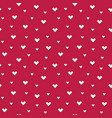 seamless pixel hearts pattern red cream vector image