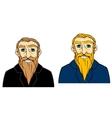 Senior man with beard vector image vector image