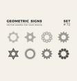 set of eight minimalistic trendy shapes stylish vector image vector image