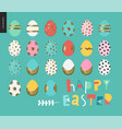 set of painted eggs vector image vector image
