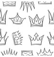 Sketch crown of pattern style
