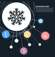 snowflake icon with the background to the point vector image