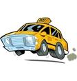 Speeding Taxi vector image
