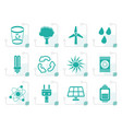 stylized ecology energy and nature icons vector image vector image
