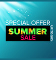 summer sale modern design template web vector image vector image