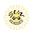 sun glasses vector image vector image
