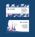 test-tube flask business card chemical vector image vector image