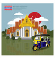 thailand landmark and travel attractions vector image vector image