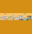 the interior a grocery supermarket and store vector image vector image
