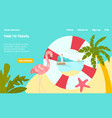 time to travel tropical country landing web page vector image