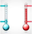 Two thermometers vector image vector image
