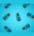 vaccine glass vials on a table composition vector image