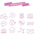 Valentine icons element style collection vector image vector image