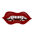Vampire mouth eps10 vector image vector image