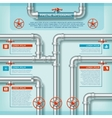 Water Pipe Business Infographic vector image