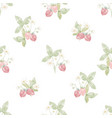watercolor hand drawn strawberry seamless pattern vector image vector image