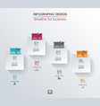 abstract white paper stickers infographics with vector image