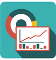 business forecasting icon vector image