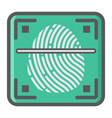 fingerprint scanner colorful line icon id vector image
