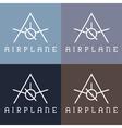 airplane monogram vector image vector image