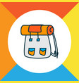 backpack icon colored line symbol premium quality vector image