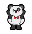 bear panda kawaii cartoon vector image