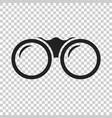 binocular icon binoculars explore flat vector image