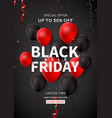 black friday sale flyer template vector image