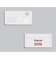 Brand identity template Envelope Front and back vector image