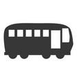bus vehicle symbol vector image