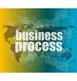 business process word on digital screen mission vector image vector image