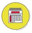 Calendar inside green button design vector image vector image