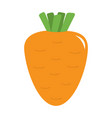 carrot with leaves icon orange color vegetable vector image