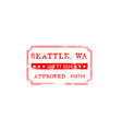 check quality seattle approved grunge seal vector image