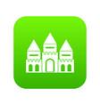 children house castle icon digital green vector image