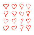collection heart7 vector image vector image