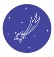 comet icon in thin line style vector image
