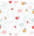 cute seamless pattern with pears apples and vector image