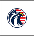 Design badge circle with eagle and american