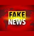 fake news world icon vector image