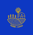 farm concept logo template with farm landscape vector image vector image