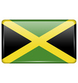 Flags Jamaica in the form of a magnet on vector image