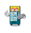 gamer bakery vending machine in a mascot vector image vector image